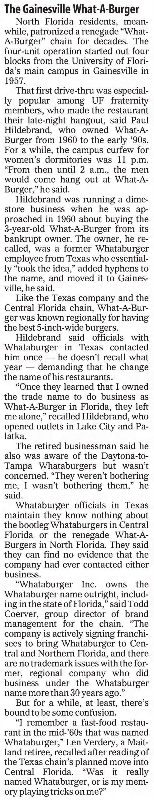 Whataburger in Gainesville