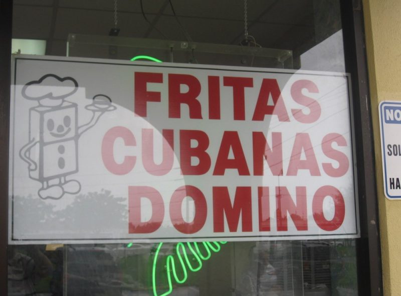 Fritas Domino Window Sign