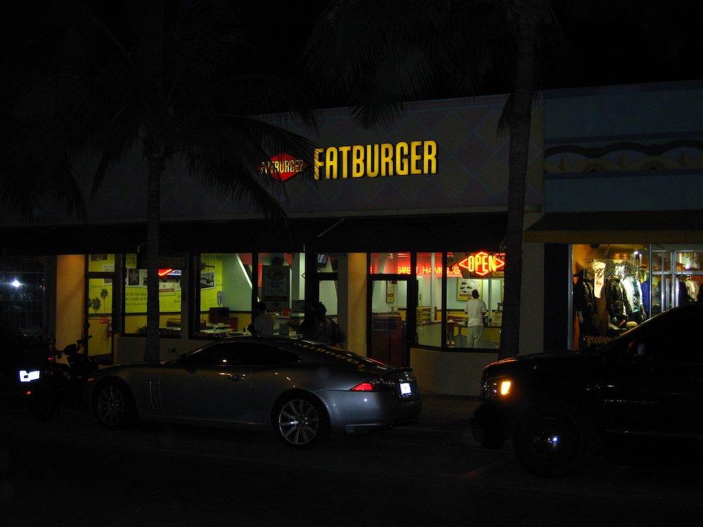 Fatburger SoBe at Night