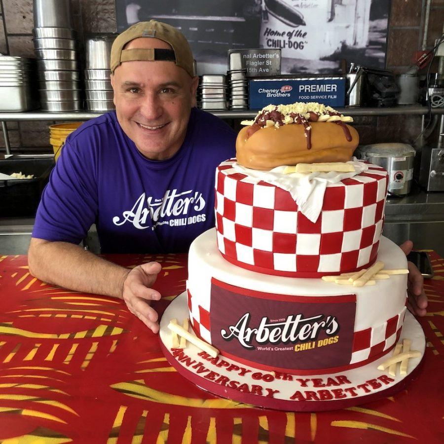 Arbetter Hot Dogs 60th Anniversary Cake