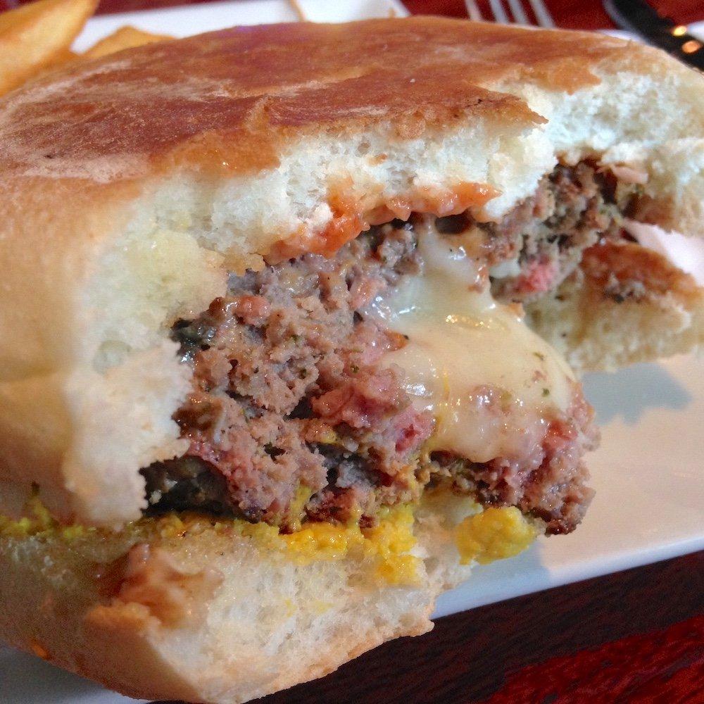 Al Carbon Stuffed Burger