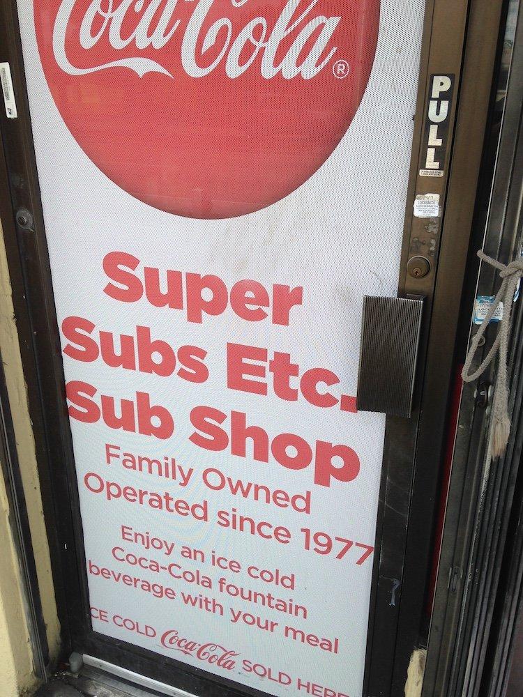 Super Subs Etc. Door