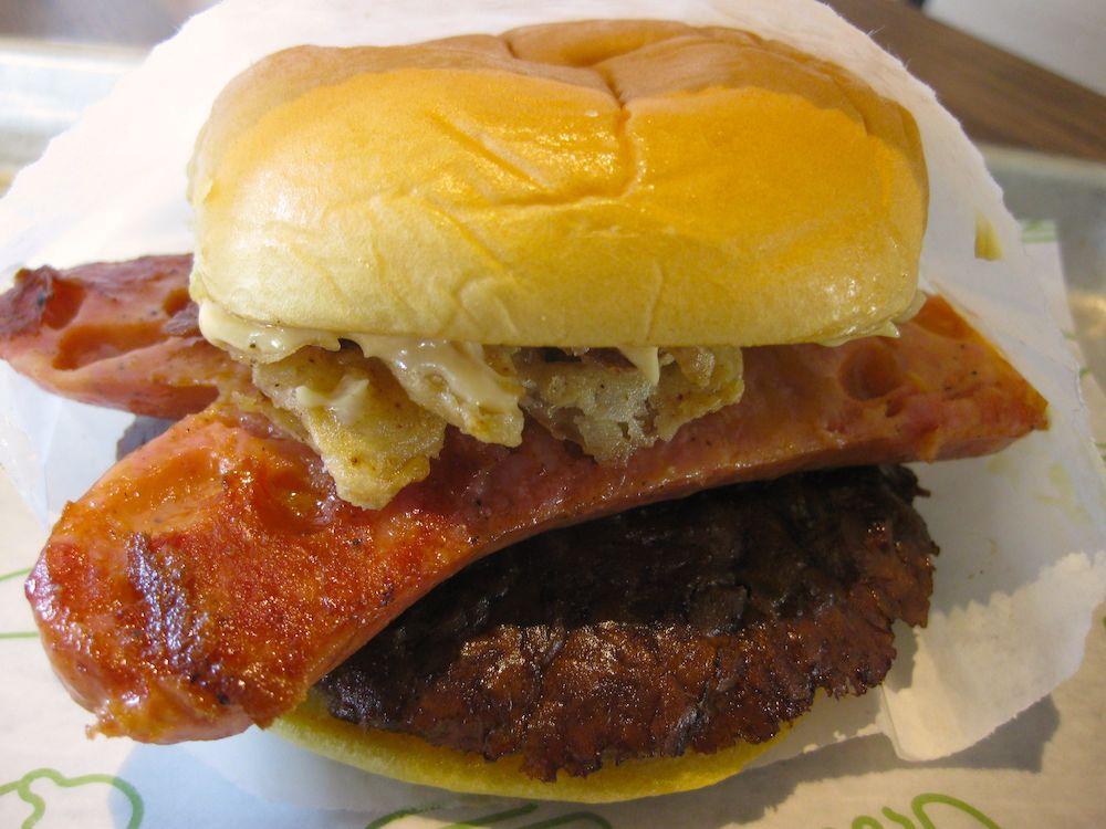 Cheddar Brat Burger