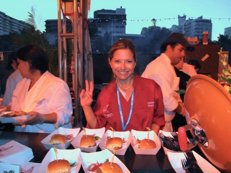 Ingrid Hoffman at SoBe Burger Bash