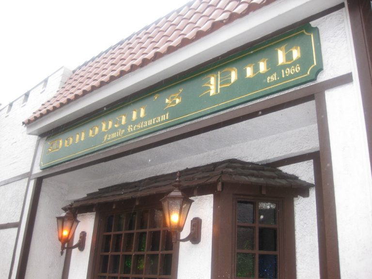 Grabbing a tasty Burger from Donovan's Pub
