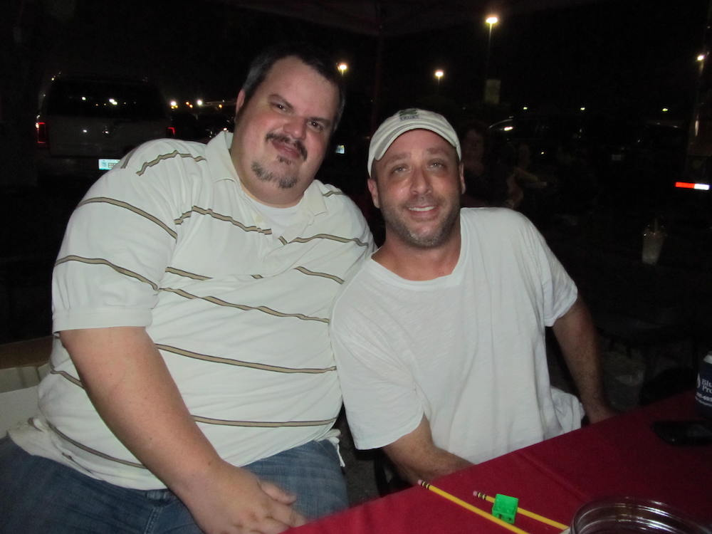 Burger Beast & Troy Thomas at the Food Truck Tracker App Event 9-23-11