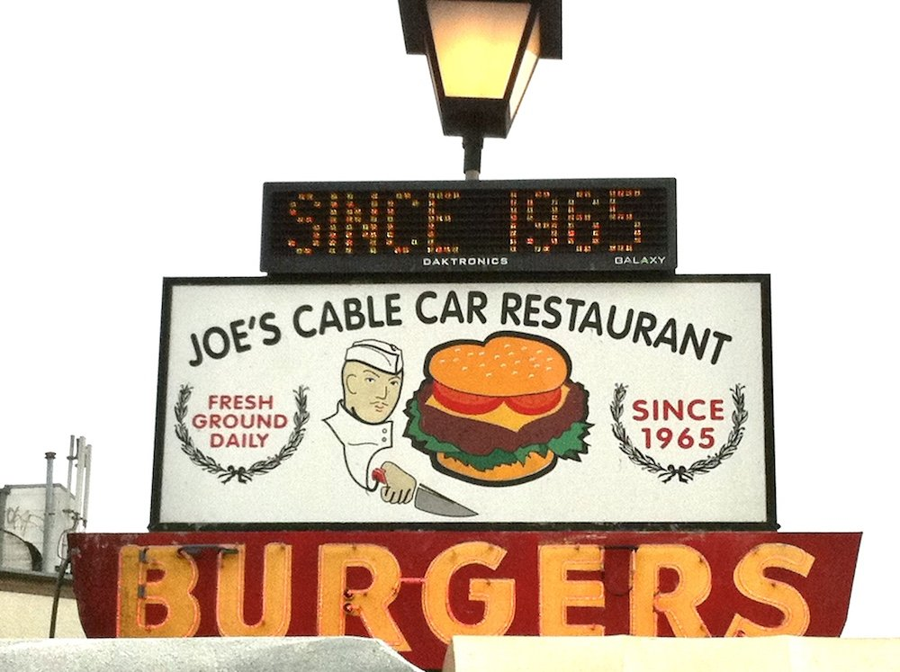Joe's Cable Car Sign