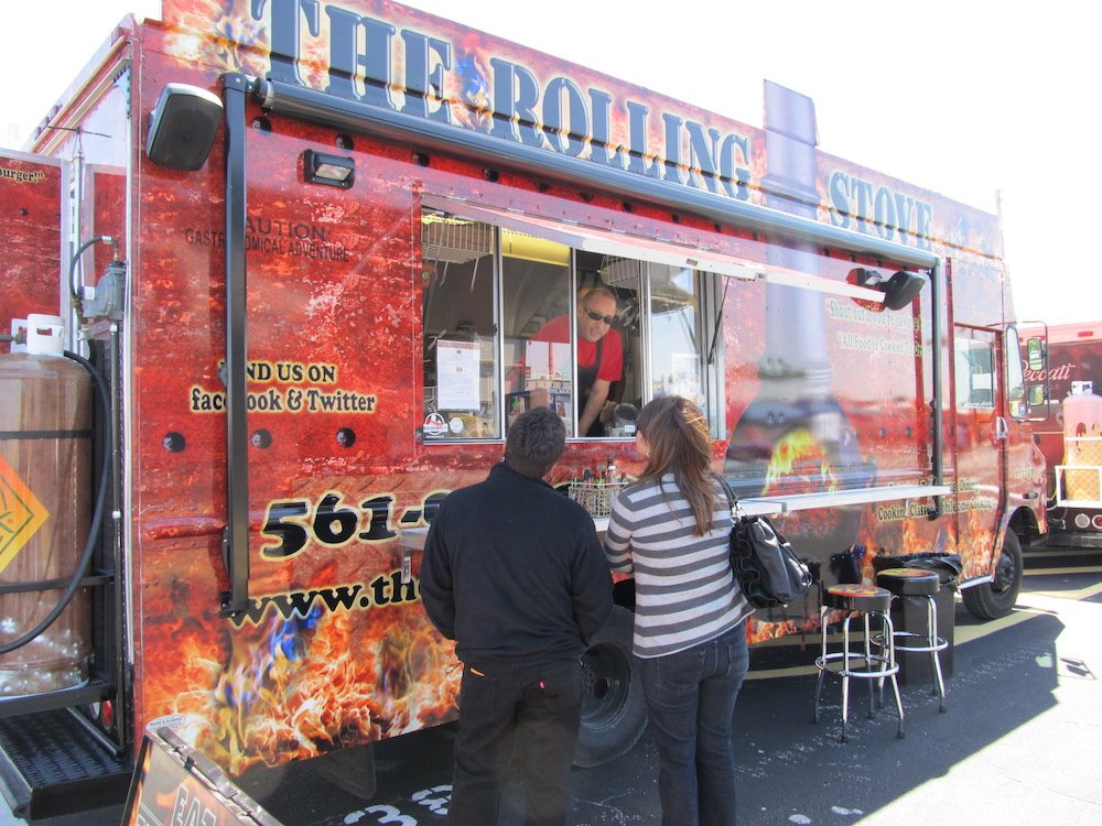 The Rolling Stove Food Truck & two customers