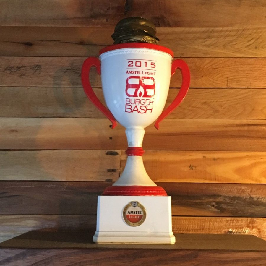 SoBe 2015 Burger Bash Trophy prominently featured