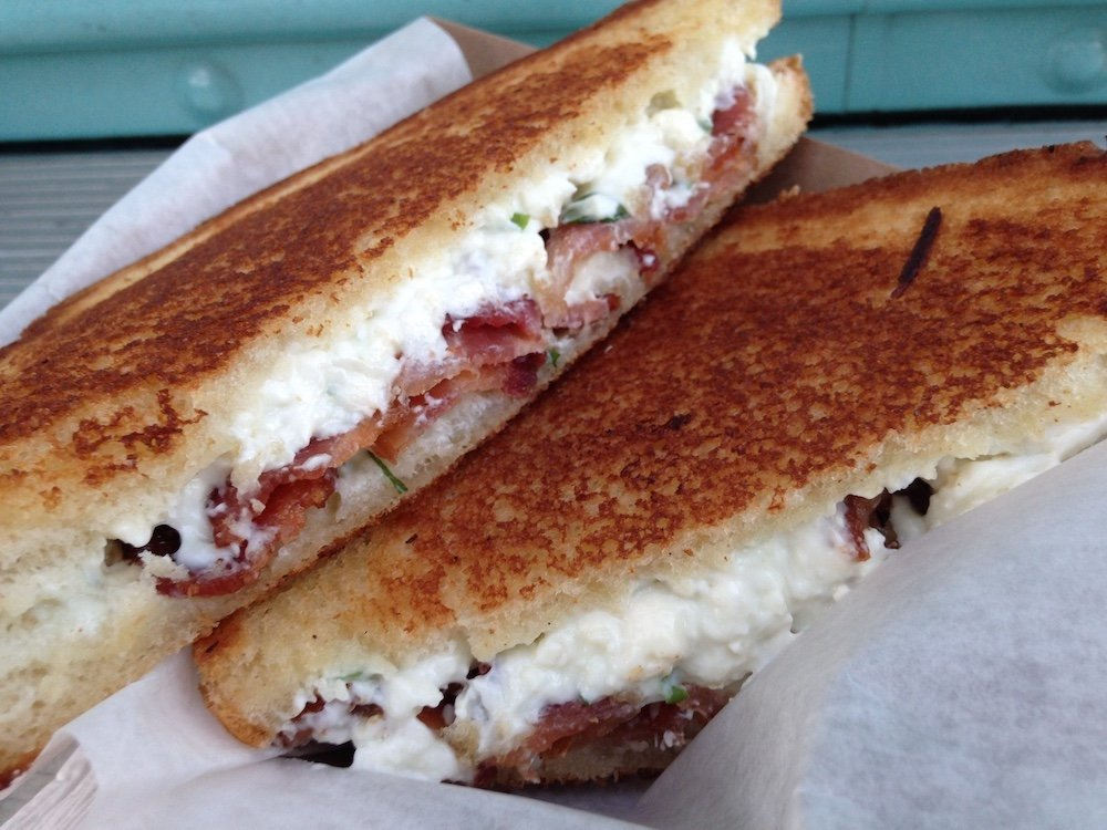 Grilled Blue & Bacon