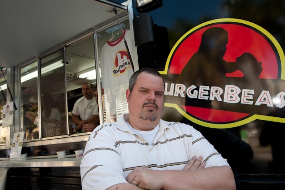 Burger Beast with Fireman Derek on the BEASTmobile