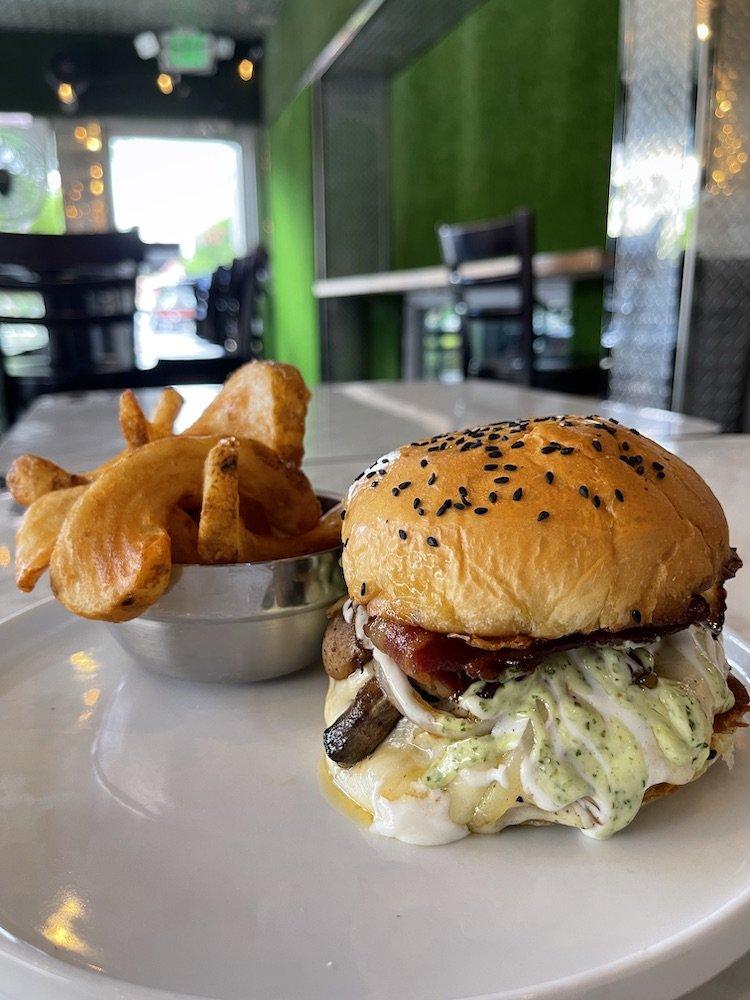 Latin House Grill Original Burger with Potato Twists