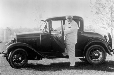 Colonel Sanders w/Car