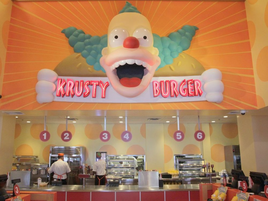 Krusty Burger Order Counter