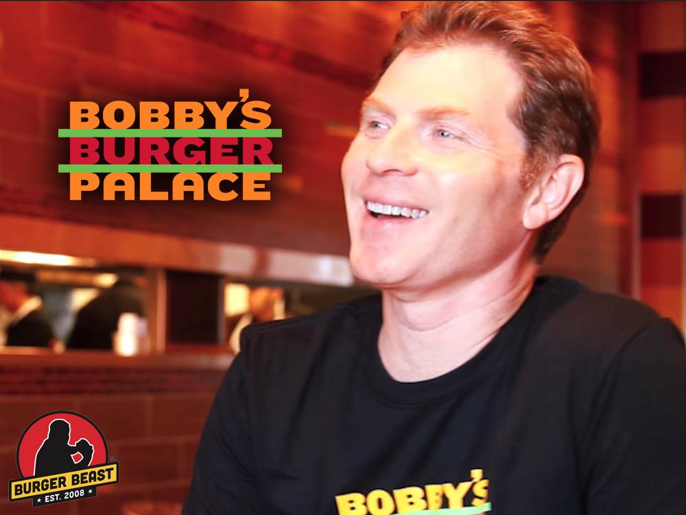 Bobby Flay at Bobby's Burger Palace in Miami