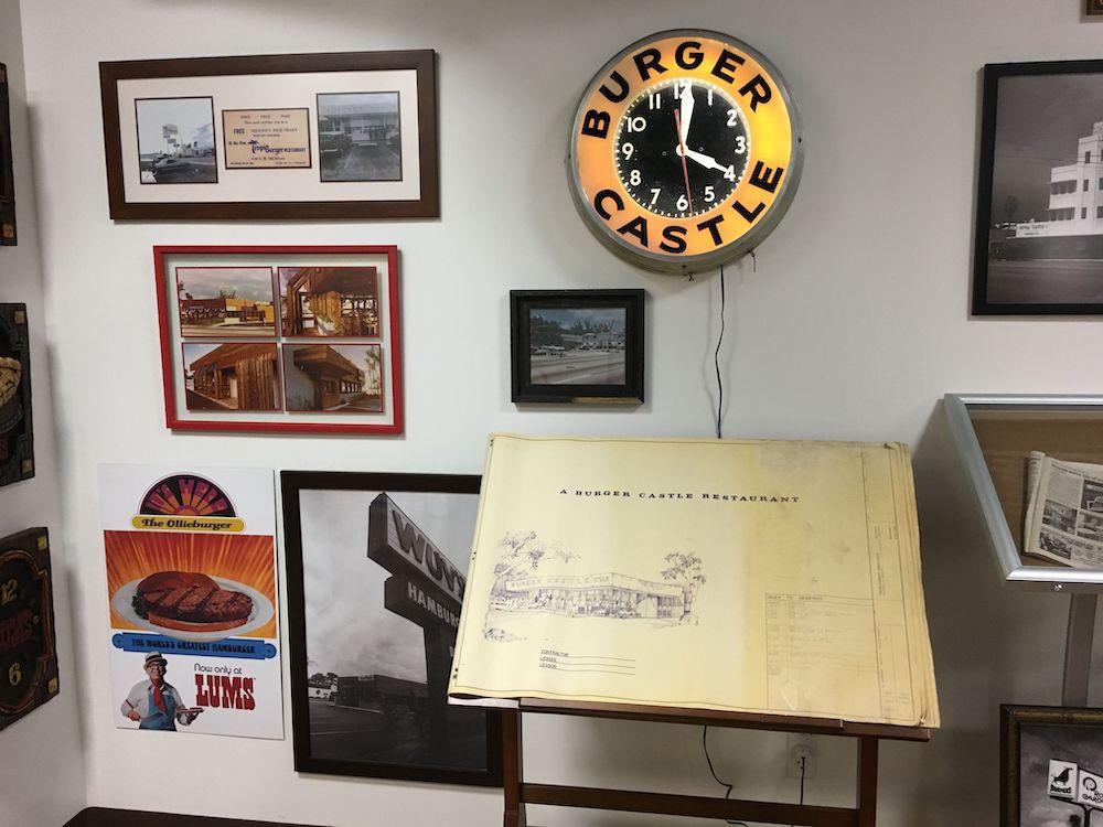 Burger Castle Clock & Blueprints