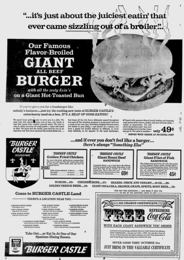 Miami News Ad – October 8th, 1968