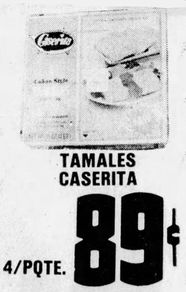 Caserita Tamales Ad