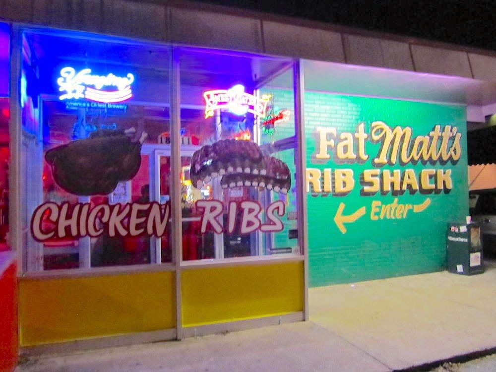 Outside of Fat Matt's Rib Shack
