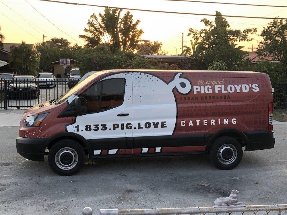 Pig Floyd's Delivery Van