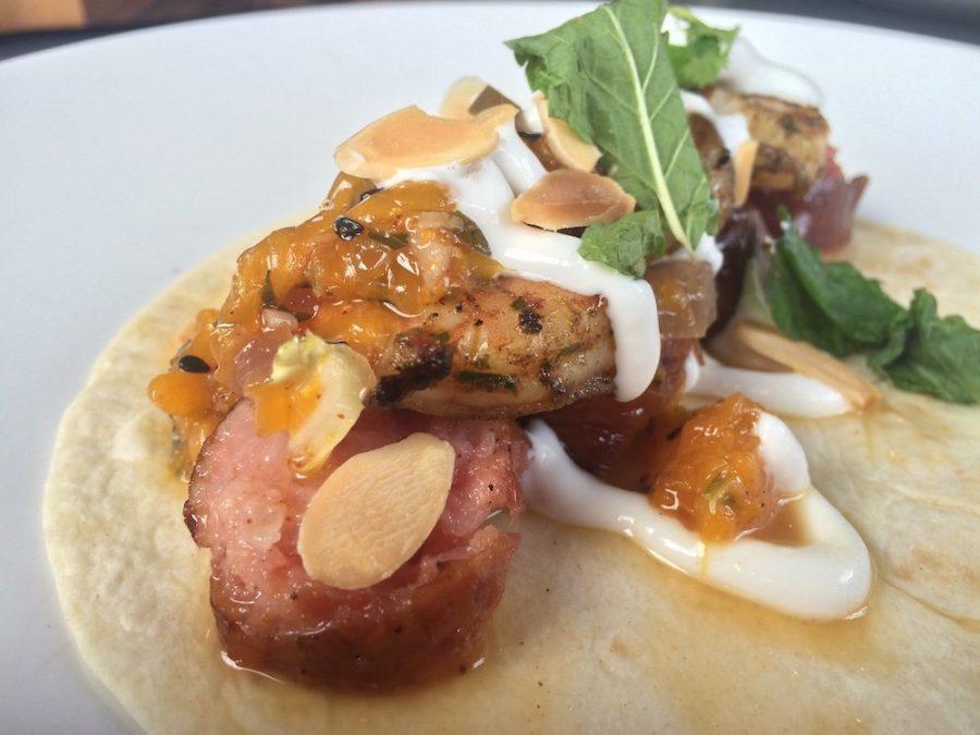 Shrimp & Sausage Taco