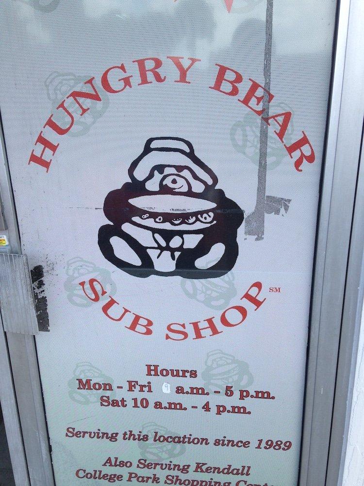 Hungry Bear Shop Door