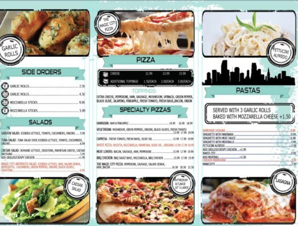 Magic City Pizza Page 2 (click to enlarge)