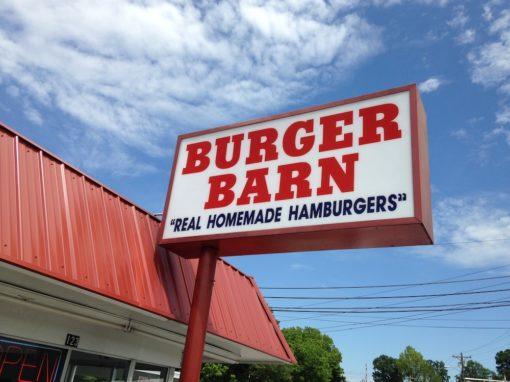Burger Barn outdoor sign