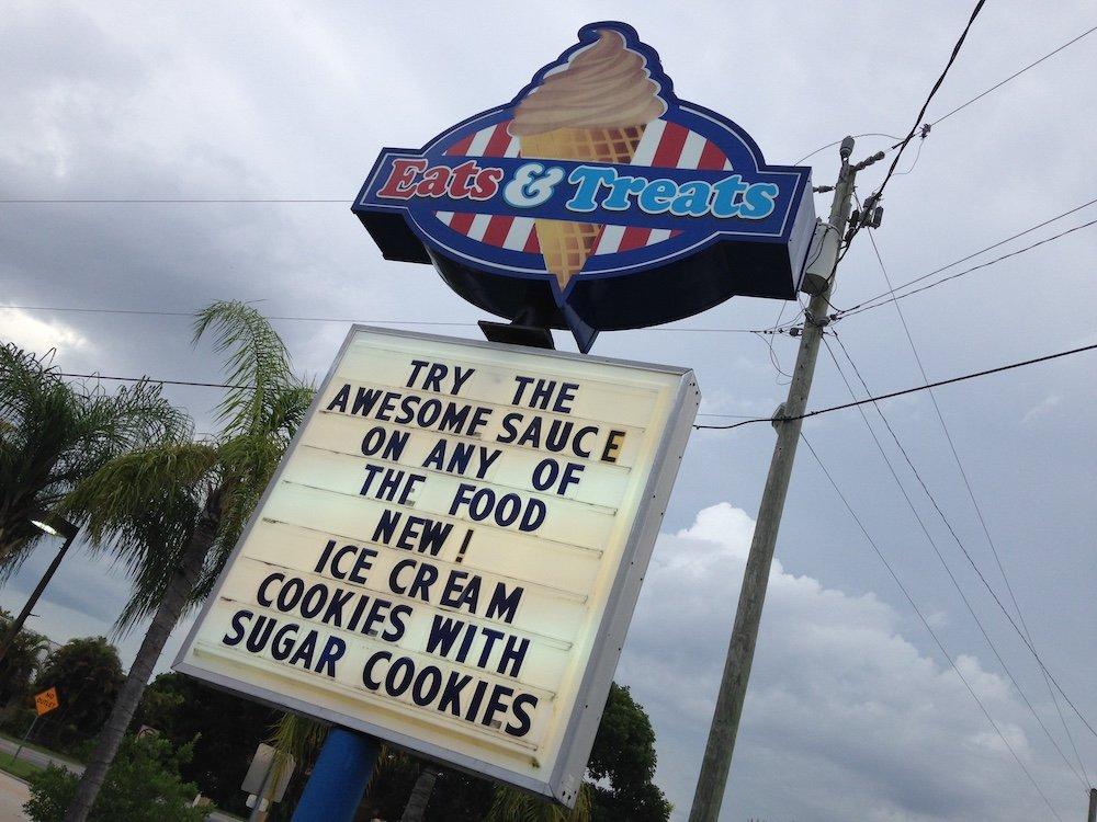 Eats and Treats Sign