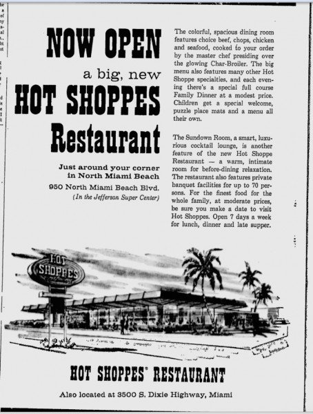 Hot Shoppes Ad