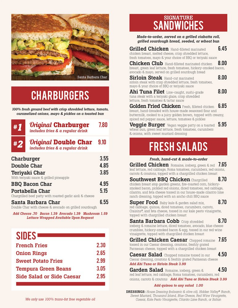 Habit Burger Grill Menu
