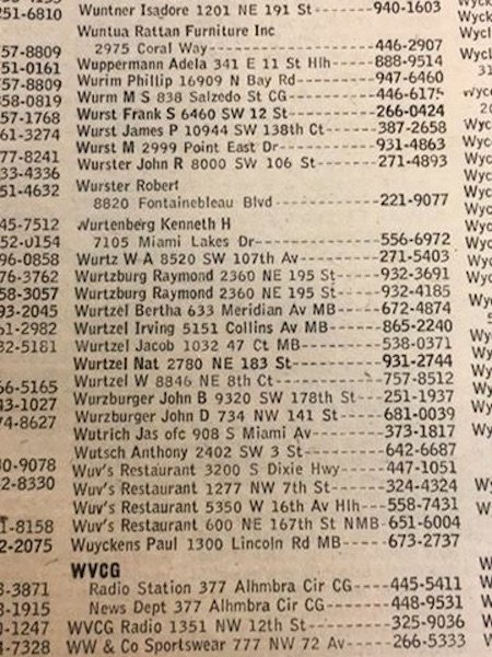 1981/1982 White Pages