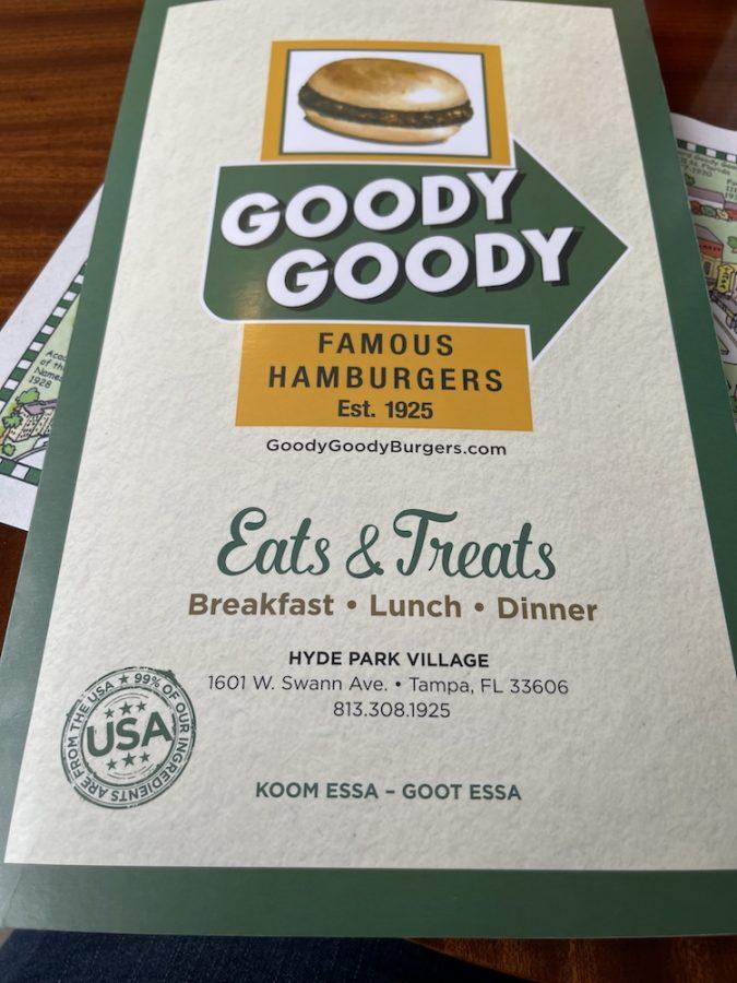 Goody Goody Burger Menu Front