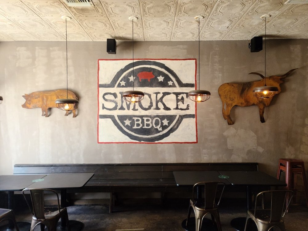 Smoke BBQ Wall in Ft. Lauderdale, Florida