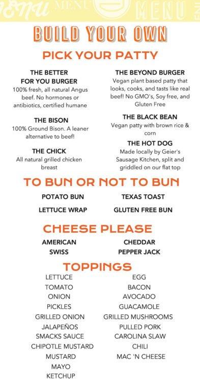 Smacks Burgers & Shakes Menu Page 3