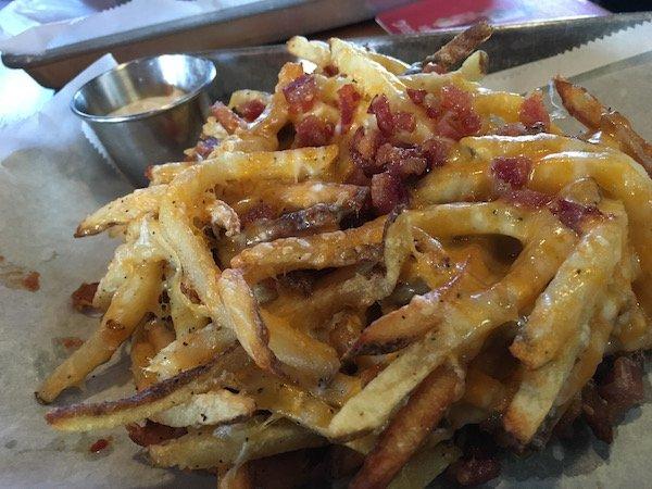Bacon Cheese Fries w/Jalapeño Ranch Sauce