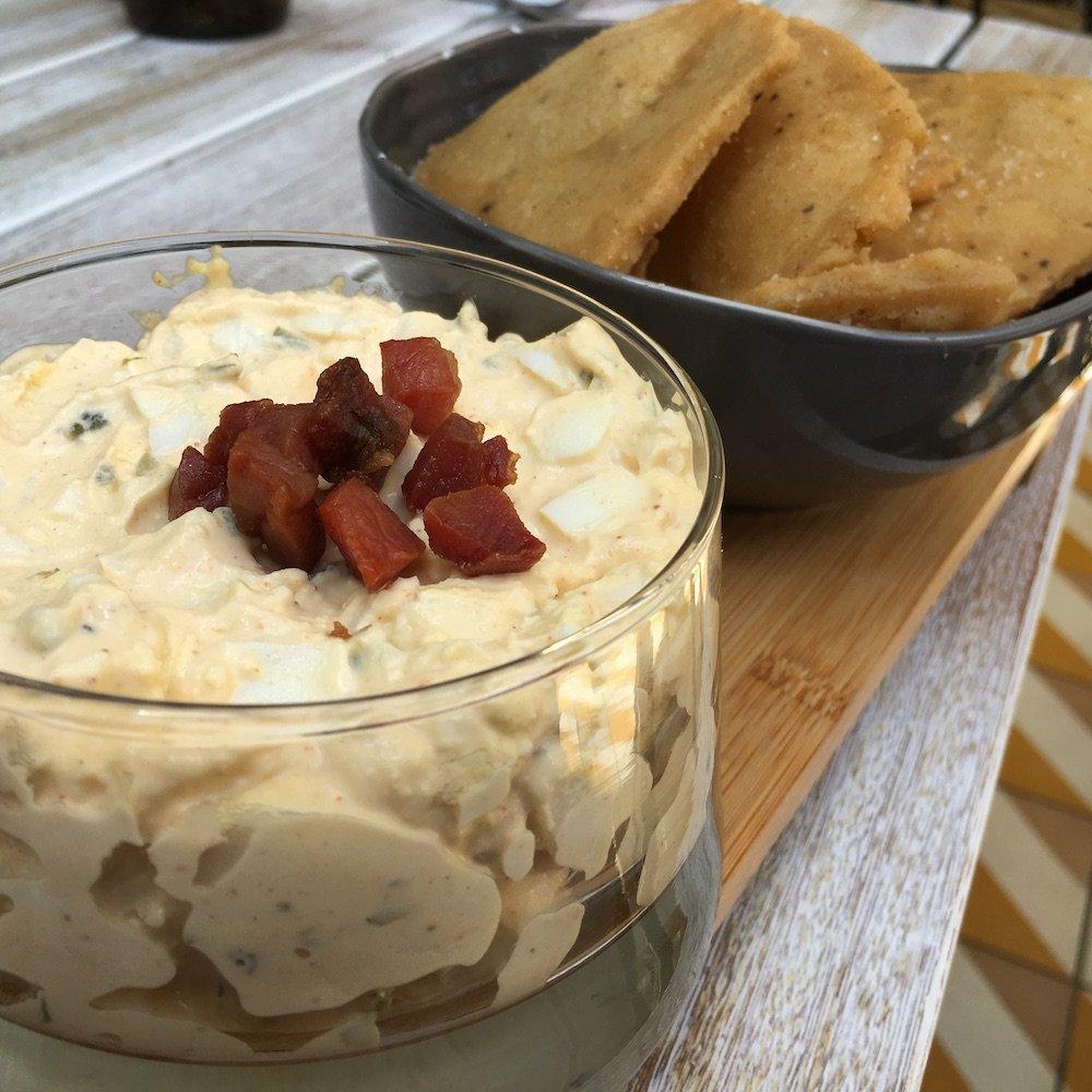 Egg Salad Jar with Heirloom Corn Chips