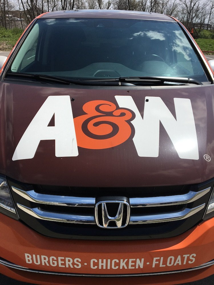 A&W Corporate Car Front View