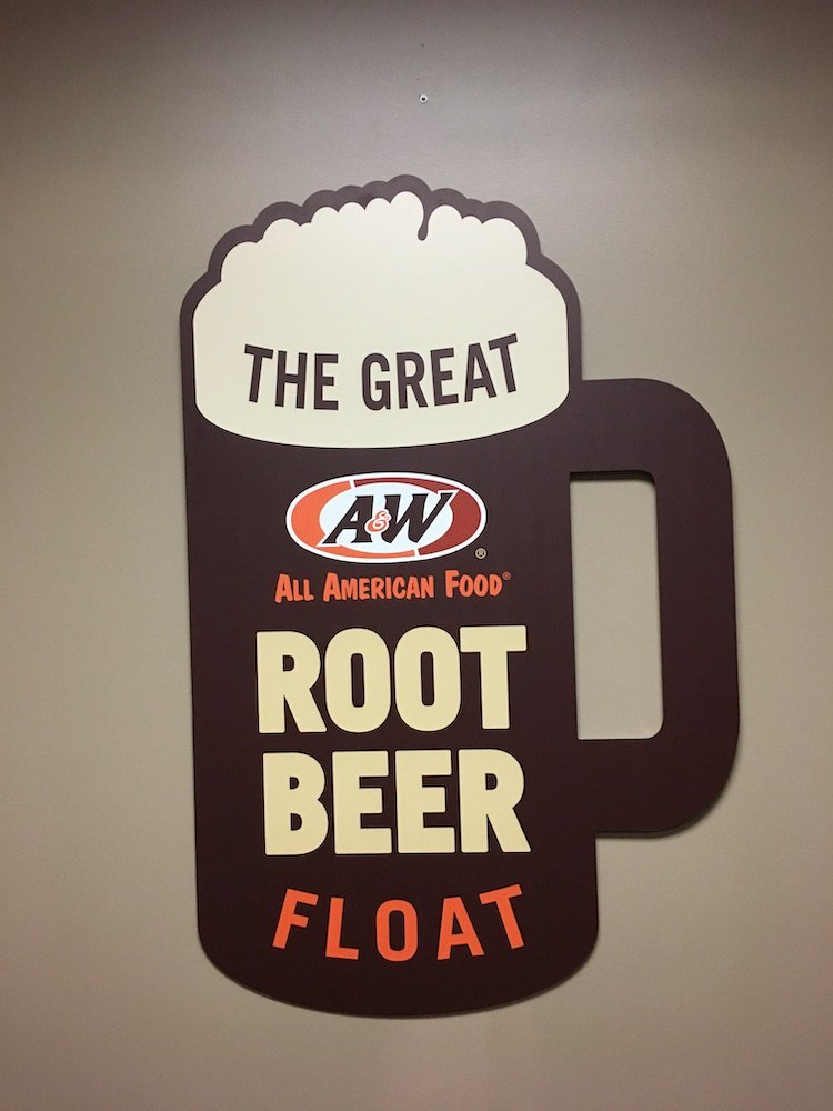 The Great American Root Beer Float Sign