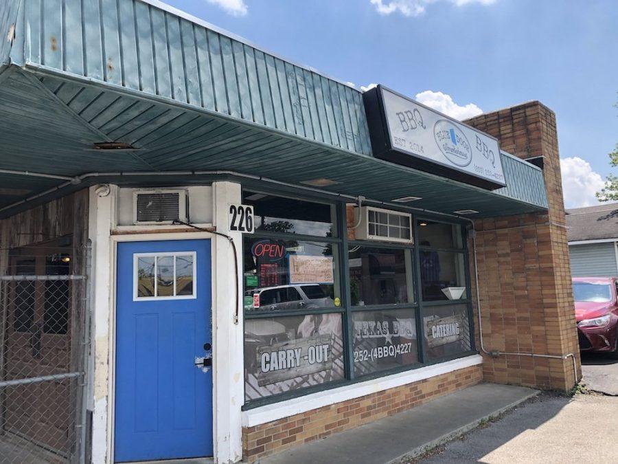 Blue Door Smokehouse Building
