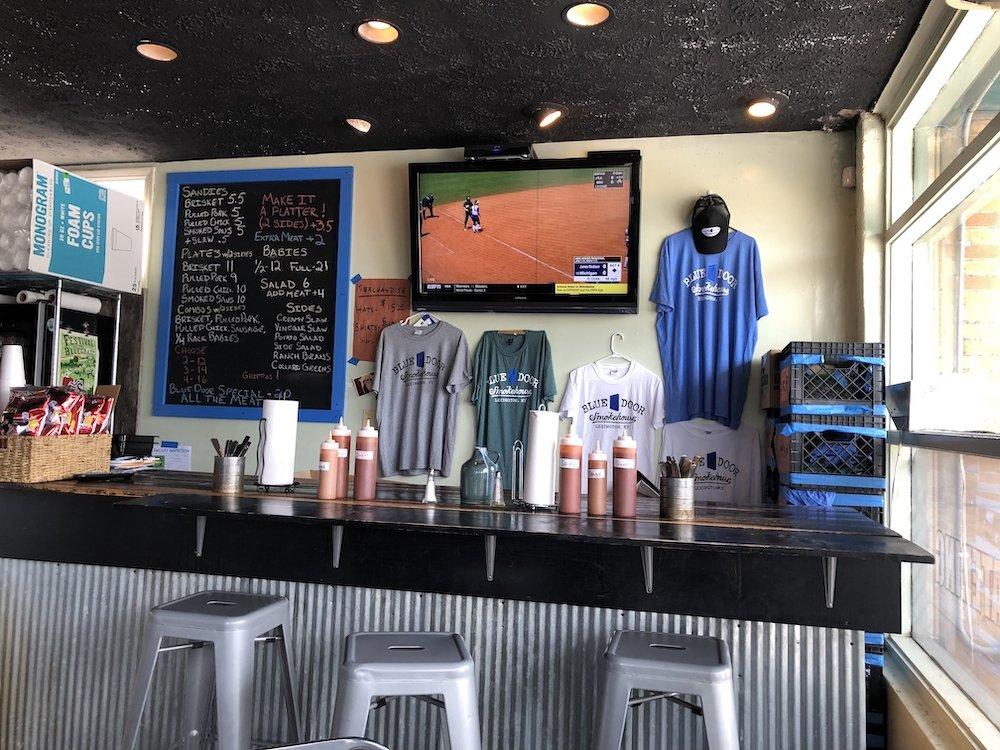 Blue Door Smokehouse Counter