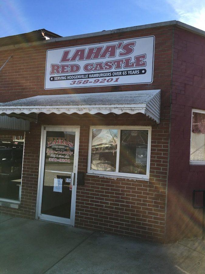 Laha's Red Castle Building in  Hodgenville, Kentucky