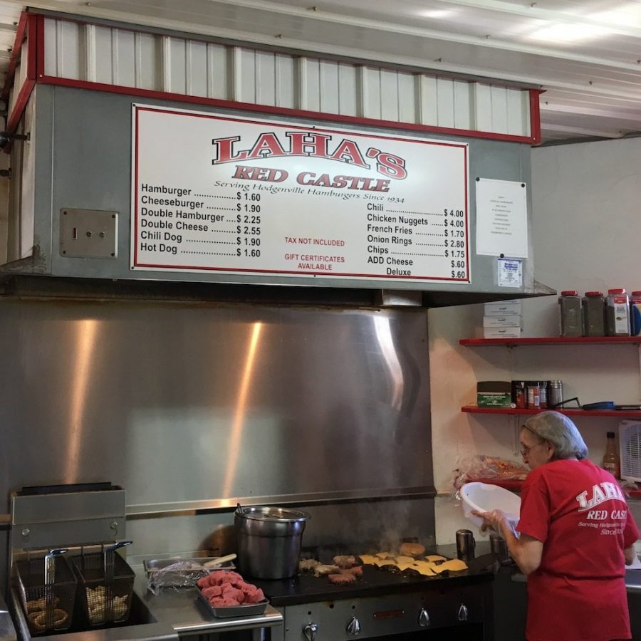 Griddle Area from Laha's Red Castle in Hodgenville, Kentucky