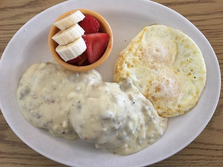 Biscuits & Gravy with 2 Eggs