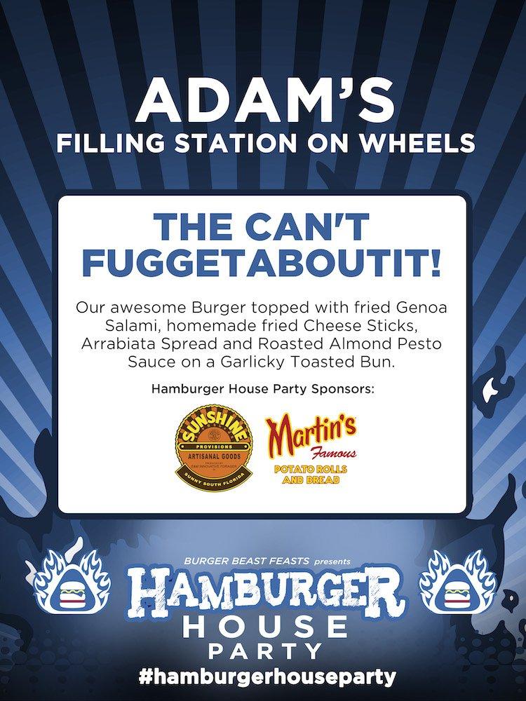 Hamburger House Party Tabletop Sign