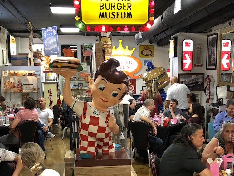 Packed house at the Burger Museum
