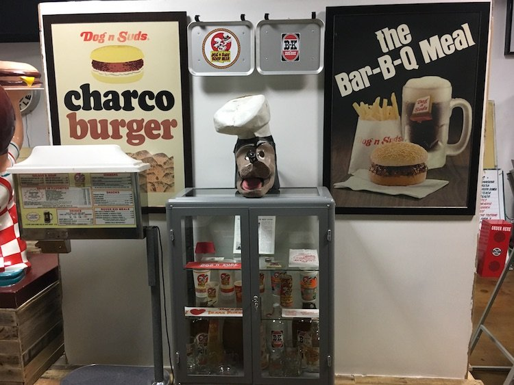 Dog 'n Suds area at the Burger Museum