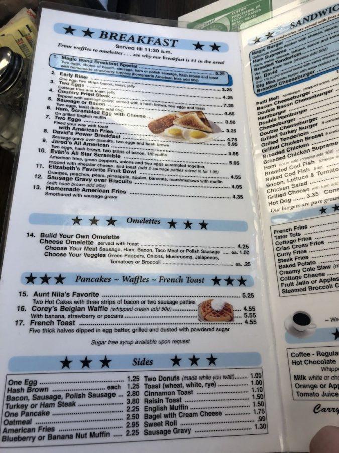 Breakfast Menu Page