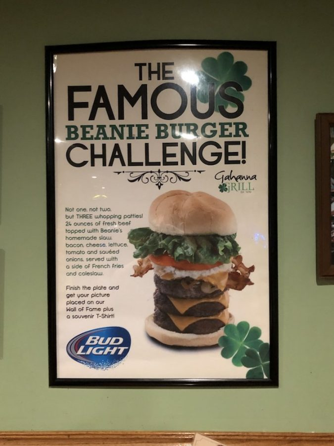 Gahanna Grill Famous Beanie Burger Challenge Poster