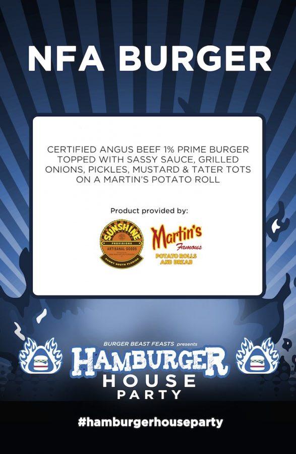 NFA Burger Hamburger House Party Countertop Sign